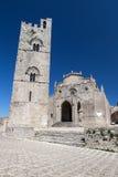 Église catholique médiévale dans Erice, Sicile Images libres de droits
