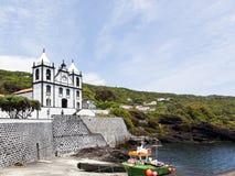 Église chez Calheta de Nesquim, Pico, Açores Photographie stock
