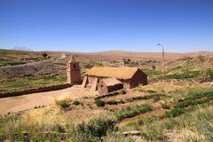 Église chez Socaire, Chili Photographie stock libre de droits