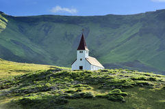 Église chez Vik, Islande photographie stock