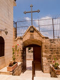 Église chrétienne très vieille aux territoires arabes de Burqin dans Palestin Photographie stock libre de droits