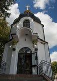 Église, ciel, Ukraine, Zarvanytsia Photographie stock