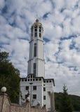 Église, ciel, Ukraine, Zarvanytsia Images libres de droits