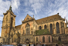 Église collégiale de Martin de saint à Colmar Photos libres de droits