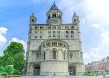 Église collégiale de saint Gertrude, Nivelles, Belgique Photo libre de droits