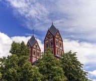 Église collégiale de St Bartholomew, Liège, Belgique Photos libres de droits