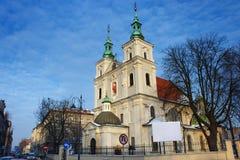 Église collégiale de St Florian dans la partie historique de Cracovie Photos libres de droits