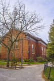 Église commémorative dans la cour de Harvard à Cambridge Images stock