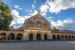 Église commémorative dans le quadruple principal de Stanford University Campus - Palo Alto, la Californie, Etats-Unis Photo libre de droits
