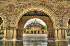 Église commémorative HDR d'Université de Stanford Photos libres de droits