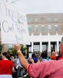 Église contre le rassemblement d'état Image libre de droits