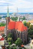 Église croisée sainte, Wroclaw images stock
