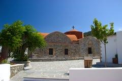 Église d'église d'Asklipeiou Rhodos Grèce Photographie stock