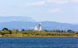Église d'île de Barbana près de Grado Image stock
