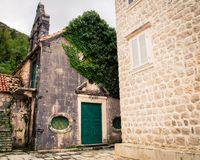 Église d'abandon dans Monténégro Image libre de droits