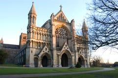 Église d'abbaye et cathédrale de rue Alban Image libre de droits