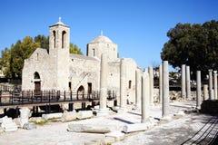 Église d'Agia Kyriaki, Paphos, Chypre Photographie stock libre de droits