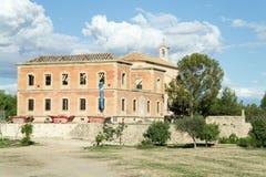 Église d'Algorfa étant reconstituée photo libre de droits