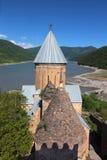 Église d'Ananuri. La Géorgie. Image libre de droits