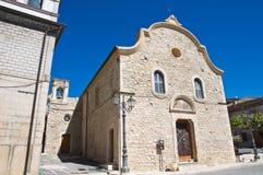 Église d'Annunziata. Pietramontecorvino. La Puglia. photographie stock
