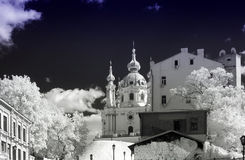 Église d'Anreevskaya, Kyiv Photo stock