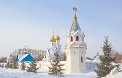 Église d'Archistrategos Mikhail à Novosibirsk Photographie stock