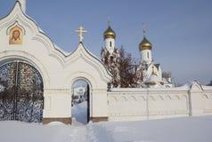 Église d'Archistrategos Mikhail à Novosibirsk Russie photo stock