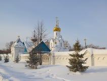 Église d'Archistrategos Mikhail à Novosibirsk Russie images stock