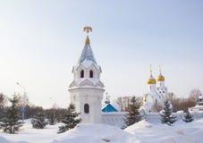 Église d'Archistrategos Mikhail à Novosibirsk Russie photos stock