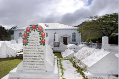 Église d'Arorangi CICC dans le cuisinier Islands de Rarotonga Images stock
