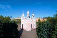 Église d'église de Chesma de la nativité de Jean-Baptist un matin ensoleillé de mai St Petersburg, Russie Image libre de droits