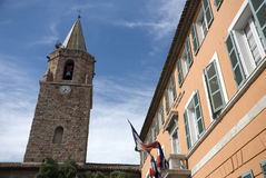 Église d'en d'hôtel de ville de Frejus Image libre de droits