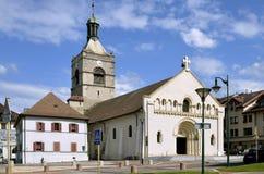 Église d'Evian-les-Bains en France Images libres de droits