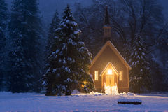 Église d'hiver de Yosemite Photo stock