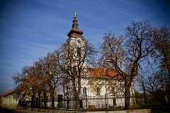 Église d'Ortodox en automne Image libre de droits