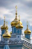 Église d'Ortodox en Lettonie Photographie stock libre de droits