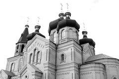 Église d'une couleur grise Photographie stock libre de droits