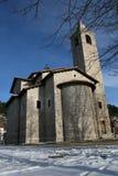 Église dans Gioia V., Abruzzo. Photographie stock libre de droits