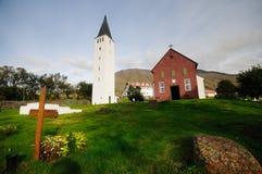 Église dans Holar, Islande Photographie stock libre de droits