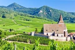 Église dans Hunawihr, Alsace Photographie stock