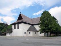 Église dans Kezmarok, héritage de l'UNESCO photographie stock