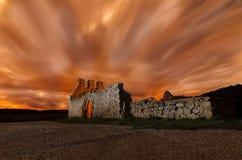 Église dans la nuit Photographie stock