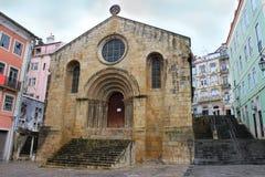 Église dans la place de Coimbra Images stock