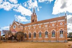Église dans la ville d'Ambalavao Images libres de droits