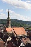 église dans la ville historique photo stock