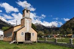 Église dans le Carretera austral Images stock
