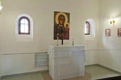 Église dans le château de prison de Tobolsk Image stock