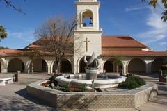 Église dans le désert Images stock