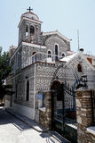 Église dans le pyrgi, Grèce Photo stock