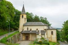Église dans le sur Ciel de Cordes Photographie stock